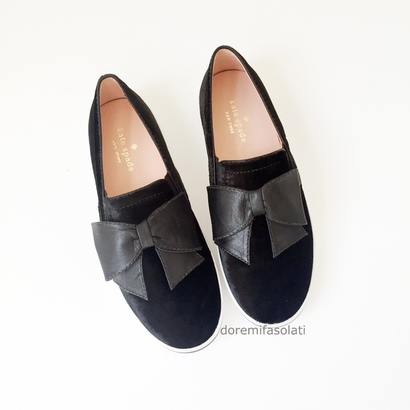 48173dc4859 kate spade Shoes   Delise Black Slip Ons Flats 65   Poshmark
